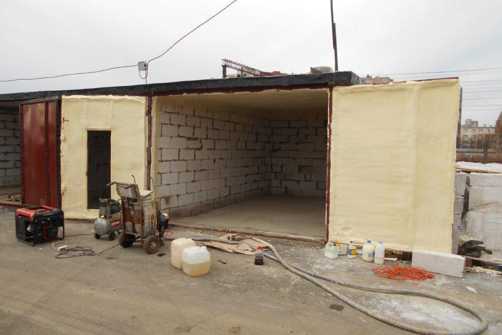 Утепление стен и крыши гаража
