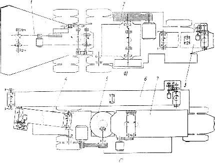 Кинематические схемы агрегатов