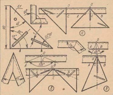 Чертежи и рисунки приспособления 2 для разметки углового проката