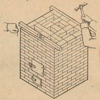 Фото проверки выполненной печной кладки