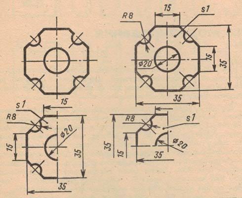 Фото по построению чертежей плоских деталей